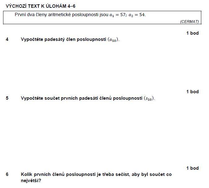 matematika-test-2012-jaro-zadani-priklad-4,5,6